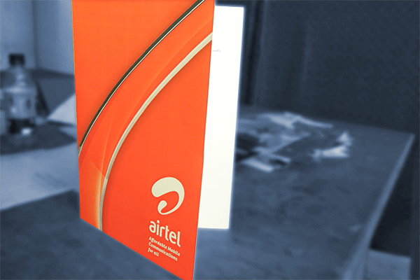 Airtel-folder Packaging | Printing partner of leading brands in Uganda. Print magazines in Uganda, print posters in Kampala, Print booklets in Kampala, in line printing services