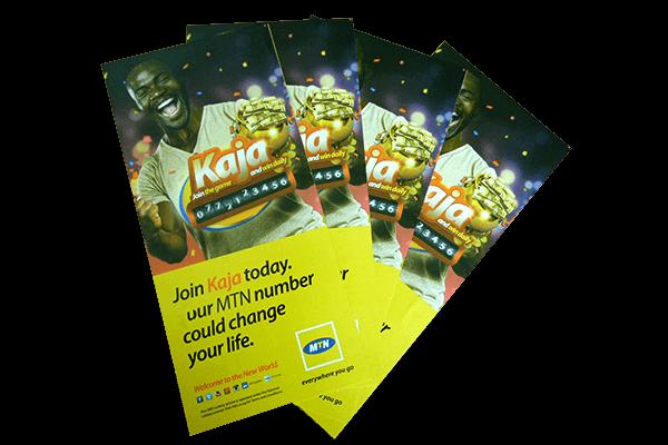 MTN-KAJA Offset Printing | Printing partner of leading brands in Uganda. Print magazines in Uganda, print posters in Kampala, Print booklets in Kampala, in line printing services